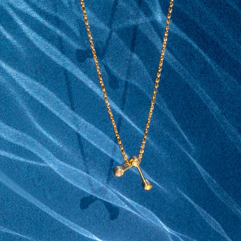 naszyjnik-pozłacany-z-opalami-baran-zodiak