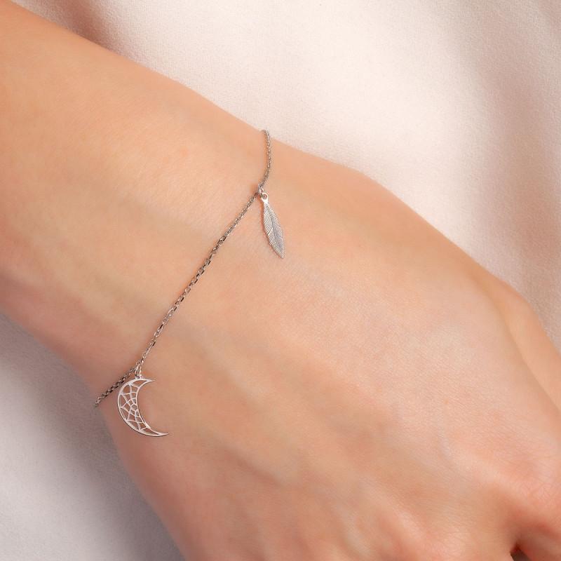 bransoletka-srebrna-księżyc