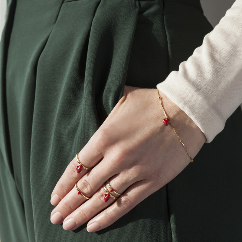 queen-of-hearts-bransoletka-srebrna-pokryta-złotem