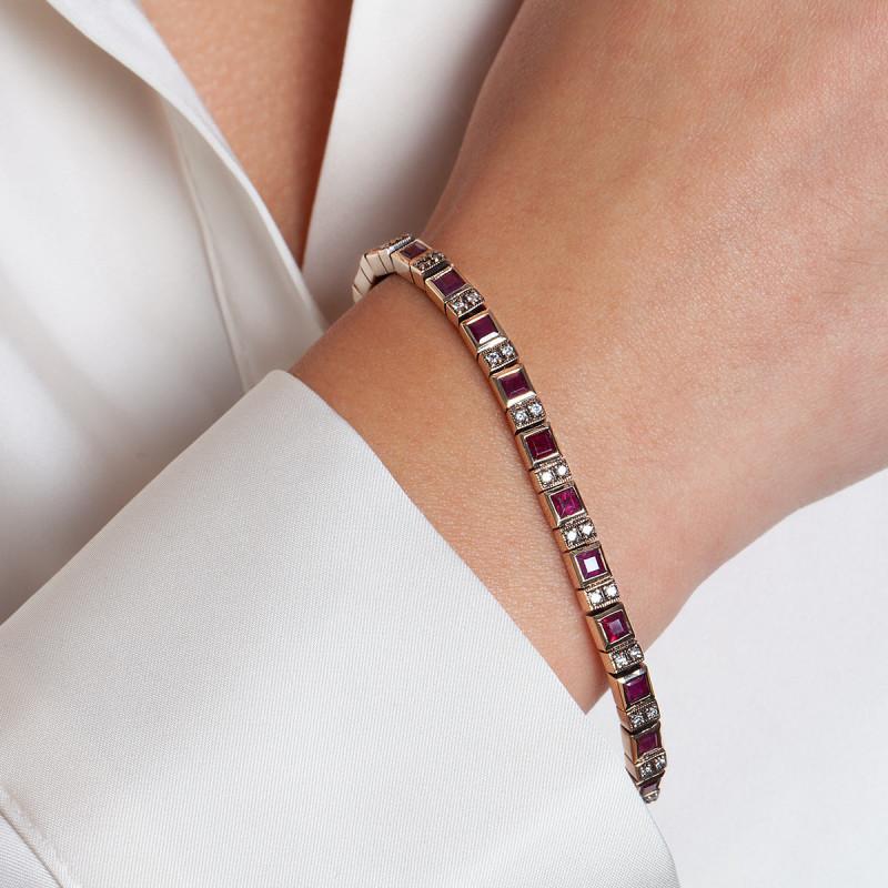 bransoletka-złota-z-rubinami-i-diamentami-kolekcja-wiktoriańska