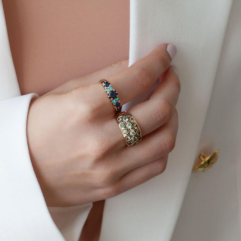 pierścionek-złoty-z-szafirami-i-opalami-kolekcja-wiktoriańska
