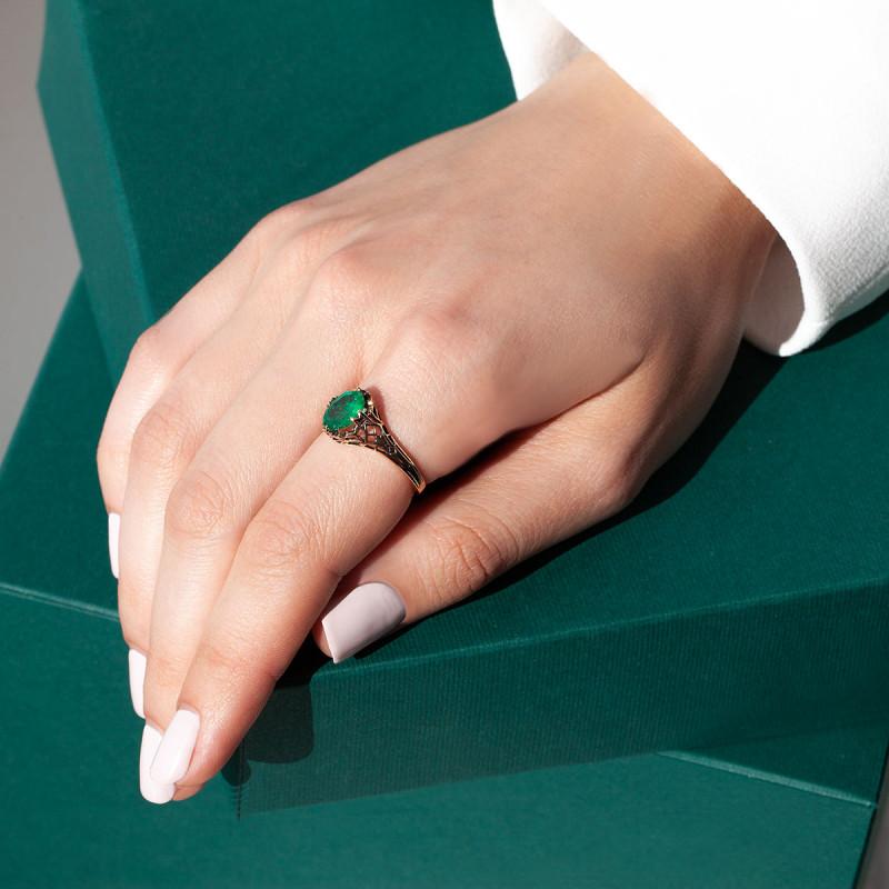 pierścionek-złoty-z-szmaragdem-kolekcja-wiktoriańska-