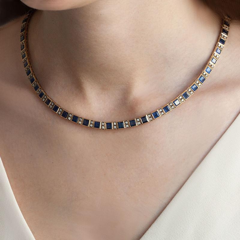 naszyjnik-złoty-z-diamentami-i-szafirami-kolekcja-wiktoriańska