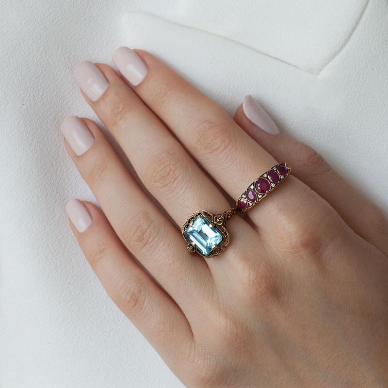 pierścionek-złoty-z-diamentami-i--rubinami-kolekcja-wiktoriańska