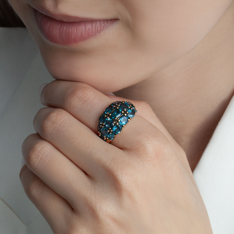 pierścionek-złoty-z-topazami-kolekcja-wiktoriańska-