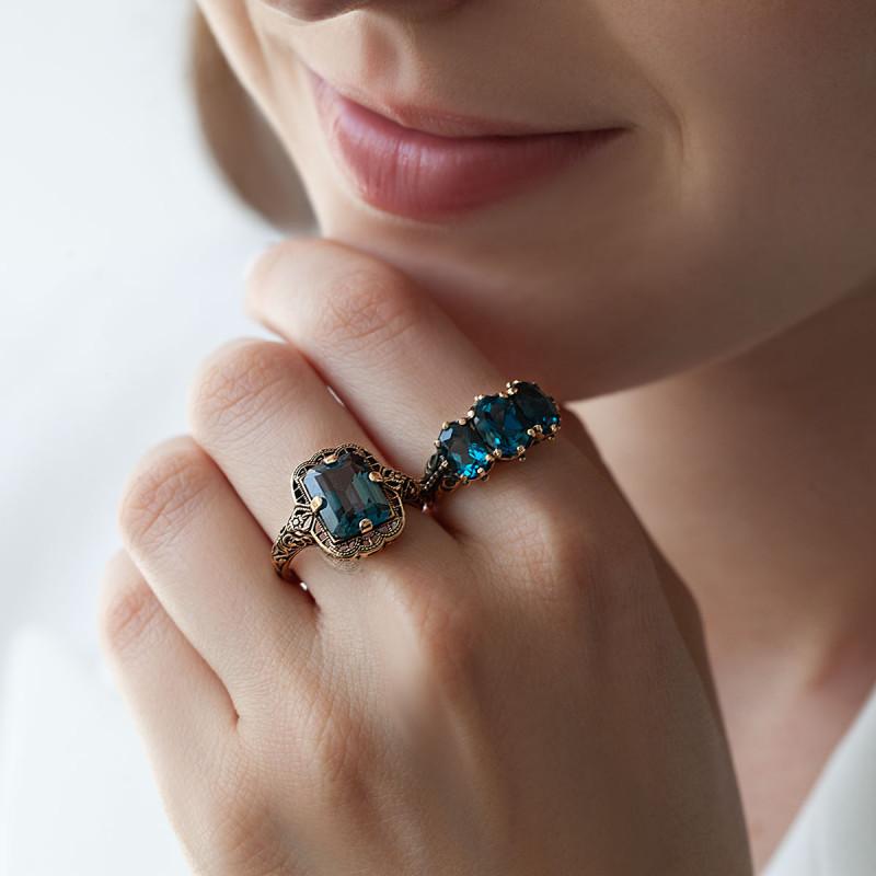 pierścionek-złoty-z-topazem-kolekcja-wiktoriańska