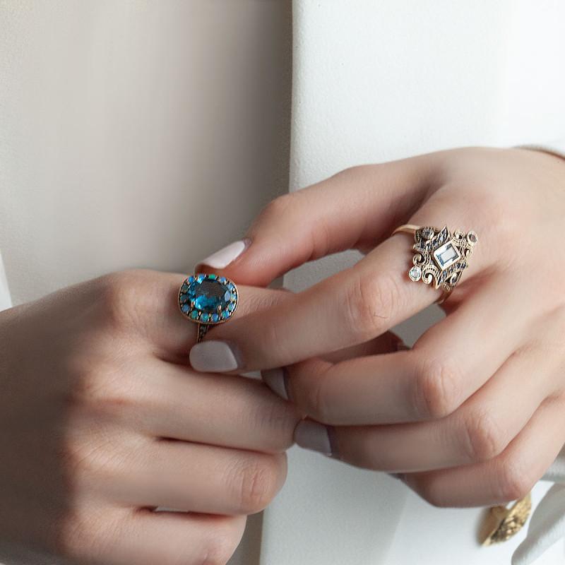 pierścionek-złoty-z-topazem,-opalami-i-szafirami-kolekcja-wiktoriańska