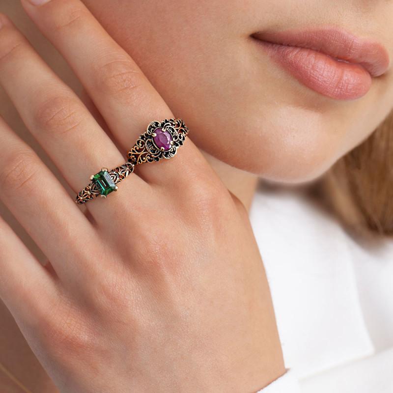 pierścionek-złoty-z-turmalinem-kolekcja-wiktoriańska-