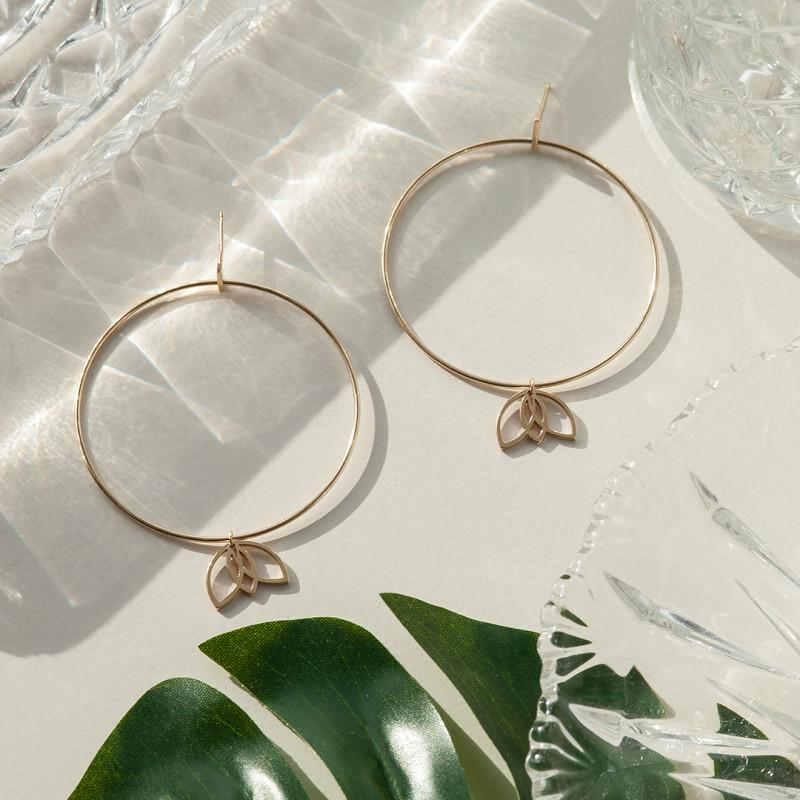 kolczyki-złote-magnolia
