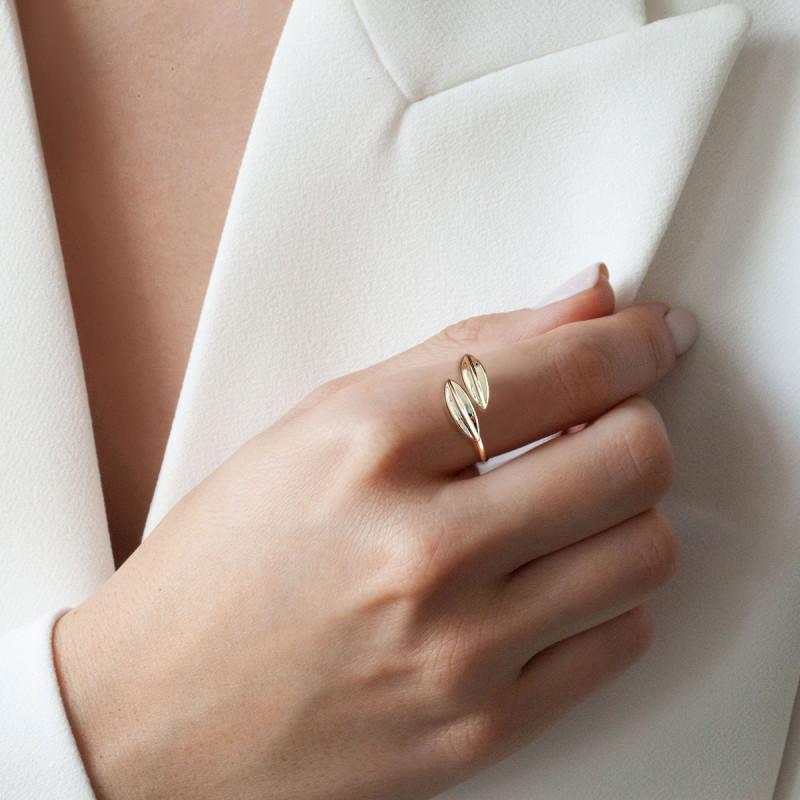 pierścionek-złoty-botanica-