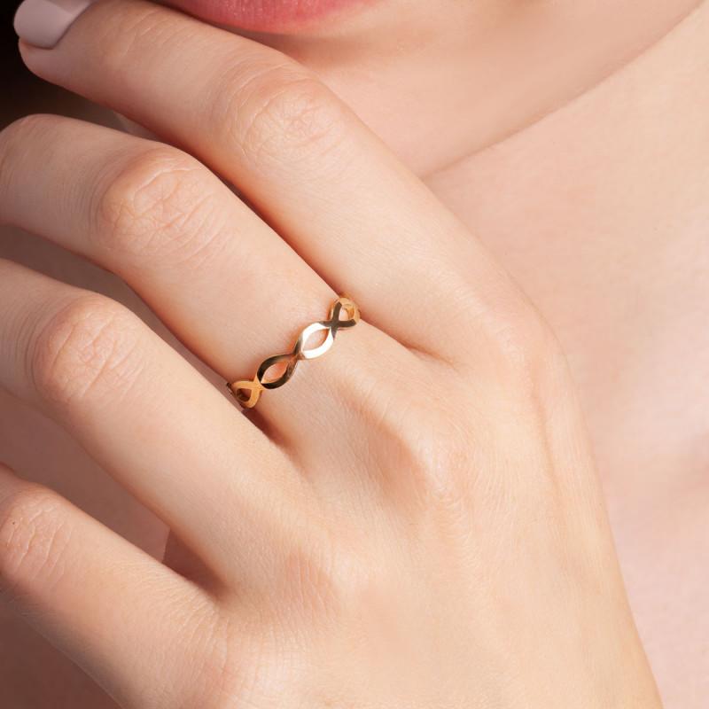 pierścionek-złoty-nieskończoność-sempre