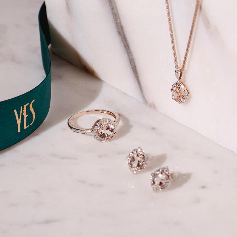 kolczyki-z-różowego-złota-z-morganitami-i-diamentami-vintage-rose
