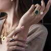 pierścionek-pozłacany-z-malachitem-medaliony-2