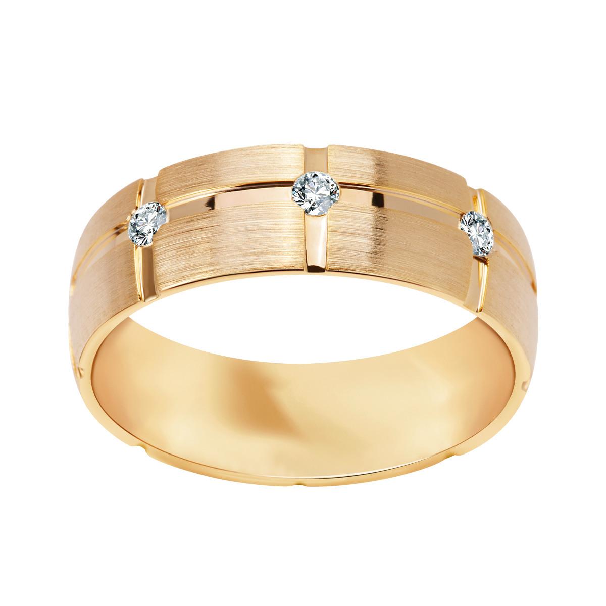 3240797ec6 Złota obrączka z diamentami (153K - 34983)