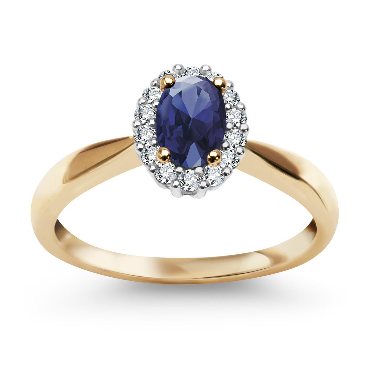 dc631fbdca0085 Pierścionek z diamentami i szafirem (14179S - 30743)