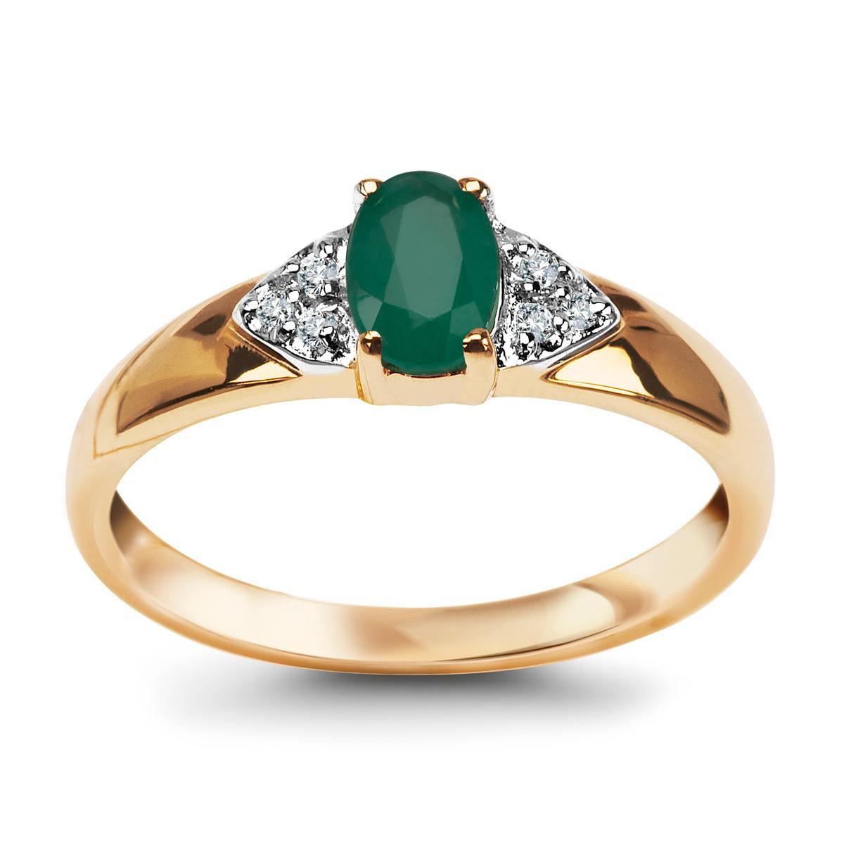2bef00699433e4 Pierścionek z diamentami i szmaragdem (2217Z - 25097)