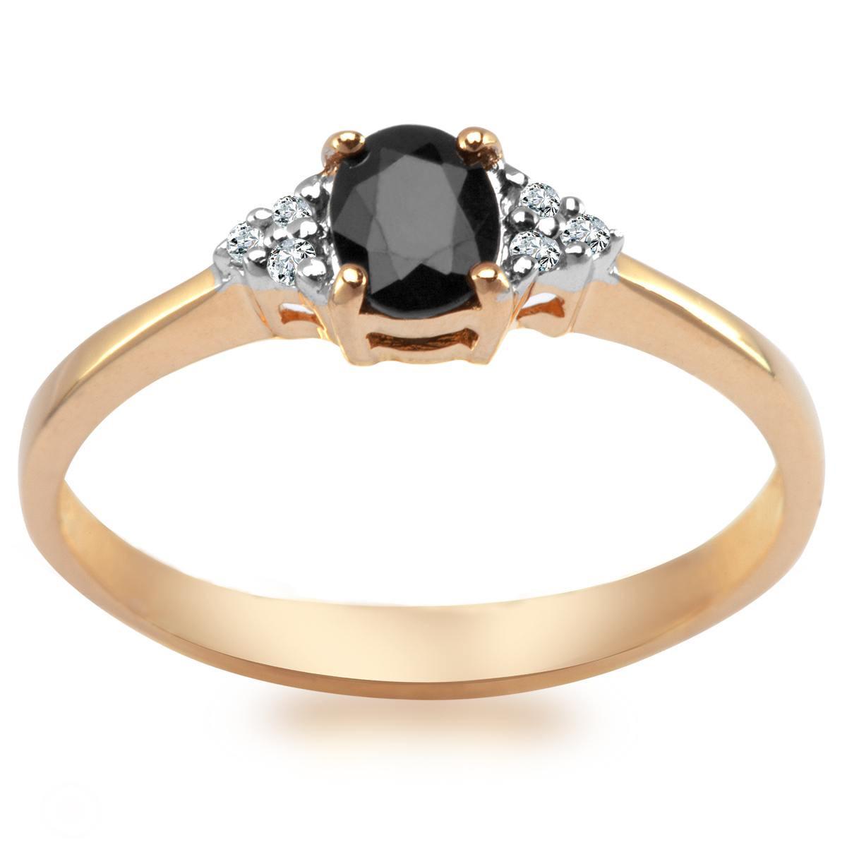 9daa46f989fd52 Pierścionek z diamentami i szafirem (3278S - 52546)