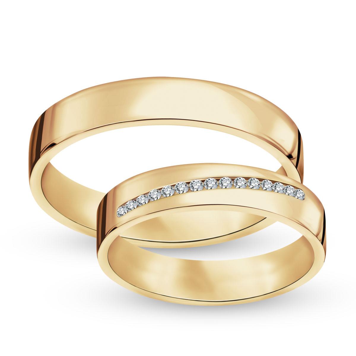 6efa4b9f90 Złota obrączka z diamentami (155D - 34990)