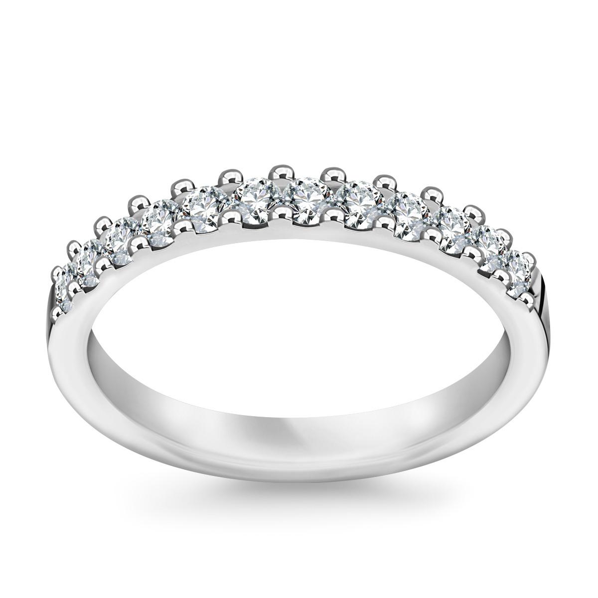 Rewelacyjny Złota obrączka z diamentami (581WD - 33664) BG36