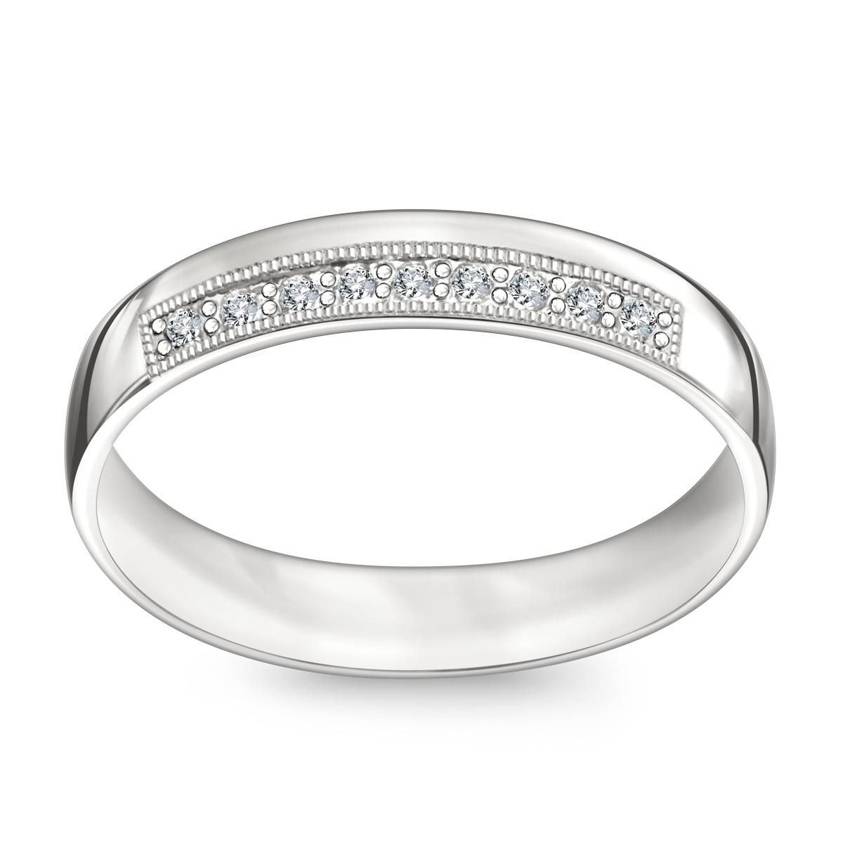 Zaktualizowano Złota obrączka z diamentami (585WD - 33670) NG12