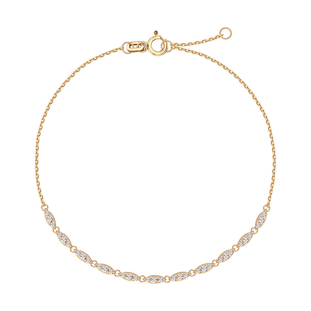 3c9ff4ac7d9159 Lunaria - złota bransoletka z cyrkoniami (DB16691 - 35625)