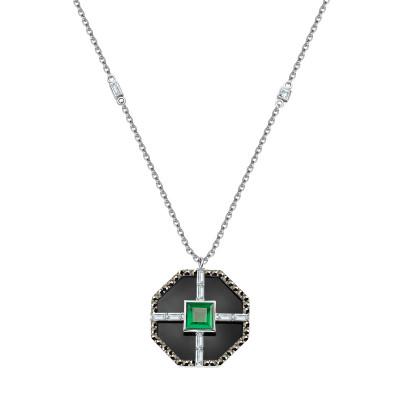 naszyjnik-srebrny-z-markazytami-i-agatem-art-deco-1