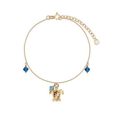 bransoletka-pozłacana-ze-szkłem-żółw--1