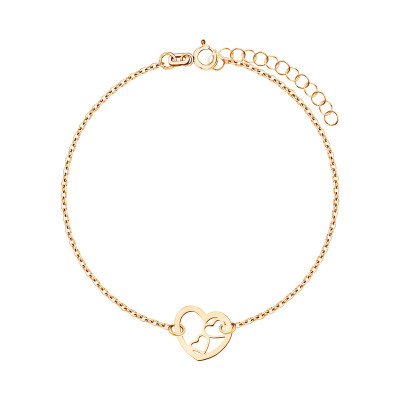 bransoletka-srebrna-pokryta-złotem-serce-1
