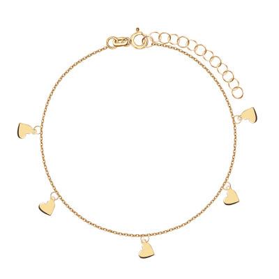bransoletka-srebrna-pokryta-złotem-serca-1