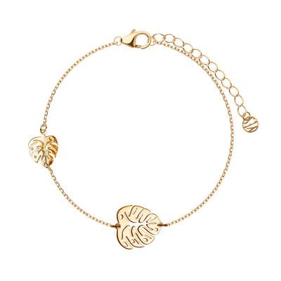 bransoletka-srebrna-pokryta-złotem-monstera-1