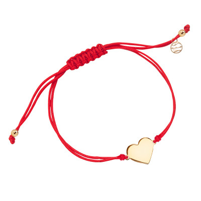 bransoletka-srebrna-pokryta-złotem-na-sznurku-serce-hippie-1