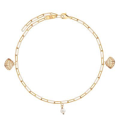 bransoletka-pozłacana-z-perłą-na-nogę-1