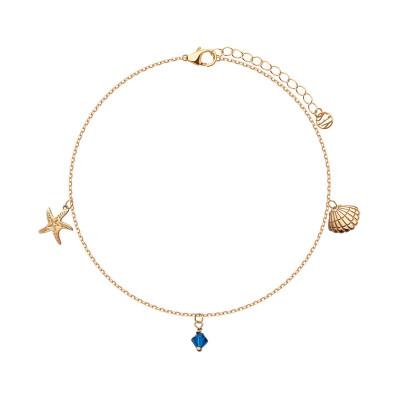 bransoletka-srebrna-pokryta-złotem-ze-szkłem-na-nogę-1