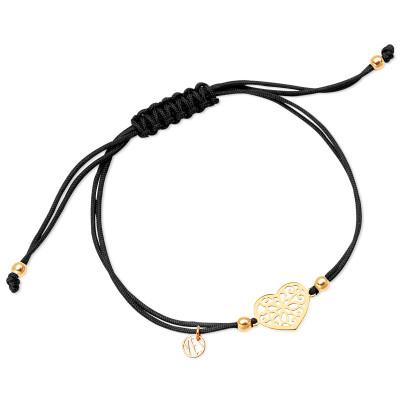 hippie-bransoletka-srebrna-pokryta-złotem-na-sznurku-1