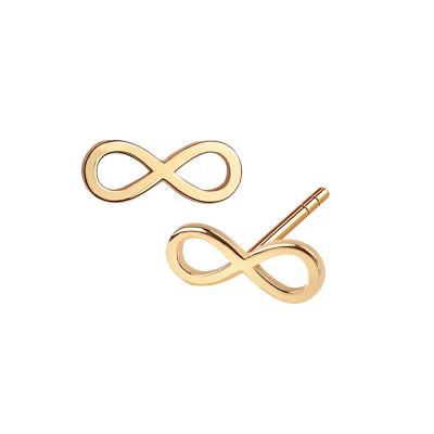 kolczyki-srebrne-pokryte-złotem-nieskończoność-sempre-1