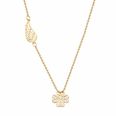 naszyjnik-srebrny-pokryty-złotem-koniczyna-1