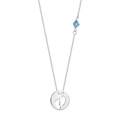 naszyjnik-srebrny-stópki-z-niebieskim-szkłem-1