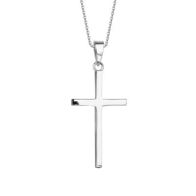 zawieszka-srebrna-krzyżyk-simple-1