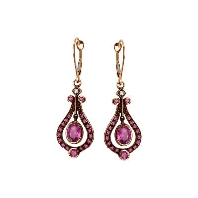 kolekcja-wiktoriańska-kolczyki-złote-z-diamentami-i-rubinami-1