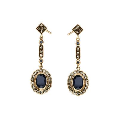 kolekcja-wiktoriańska-kolczyki-złote-z-diamentami-i-szafirami-1