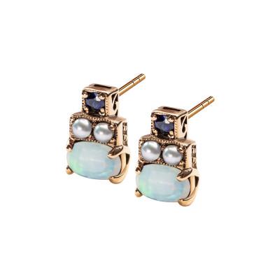 kolekcja-wiktoriańska-kolczyki-złote-z-opalami,-szafirami-i-perłami-1
