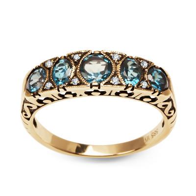 pierścionek-złoty-z-topazami-i-diamentami-kolekcja-wiktoriańska-1