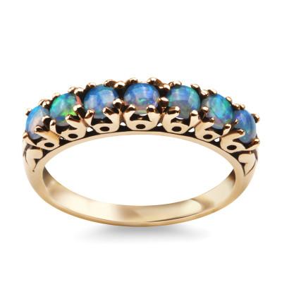 kolekcja-wiktoriańska-pierścionek-złoty-z-opalem-1