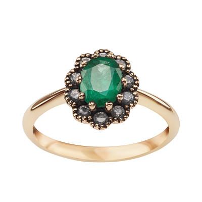 kolekcja-wiktoriańska-pierścionek-złoty-z-szmaragdem-i-szafirami-1