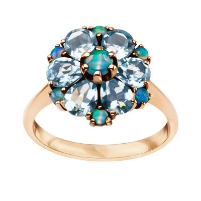 kolekcja-wiktoriańska-pierścionek-złoty-z-topazami-i-opalami-1