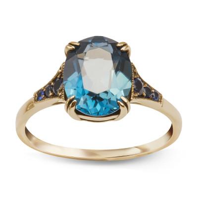 pierścionek-złoty-z-topazem-i-szafirami-kolekcja-wiktoriańska-1