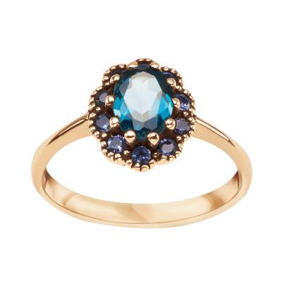 pierścionek-złoty-z-topazem-i-tanzanitami-kolekcja-wiktoriańska-1