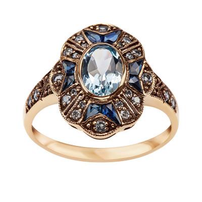 pierścionek-złoty-z-diamentami-i-topazami-kolekcja-wiktoriańska--1