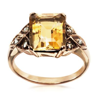 pierścionek-złoty-z-cytrynem-i-diamentami-kolekcja-wiktoriańska--1