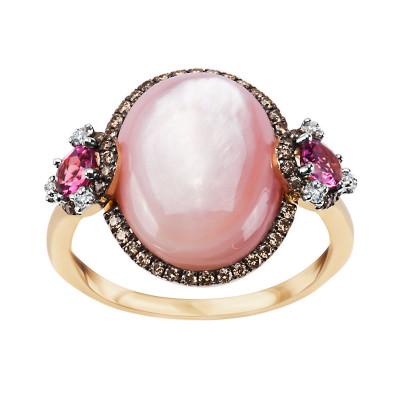 pierścionek-złoty-z-masą-perłową,-turmalinami-i-diamentami--1